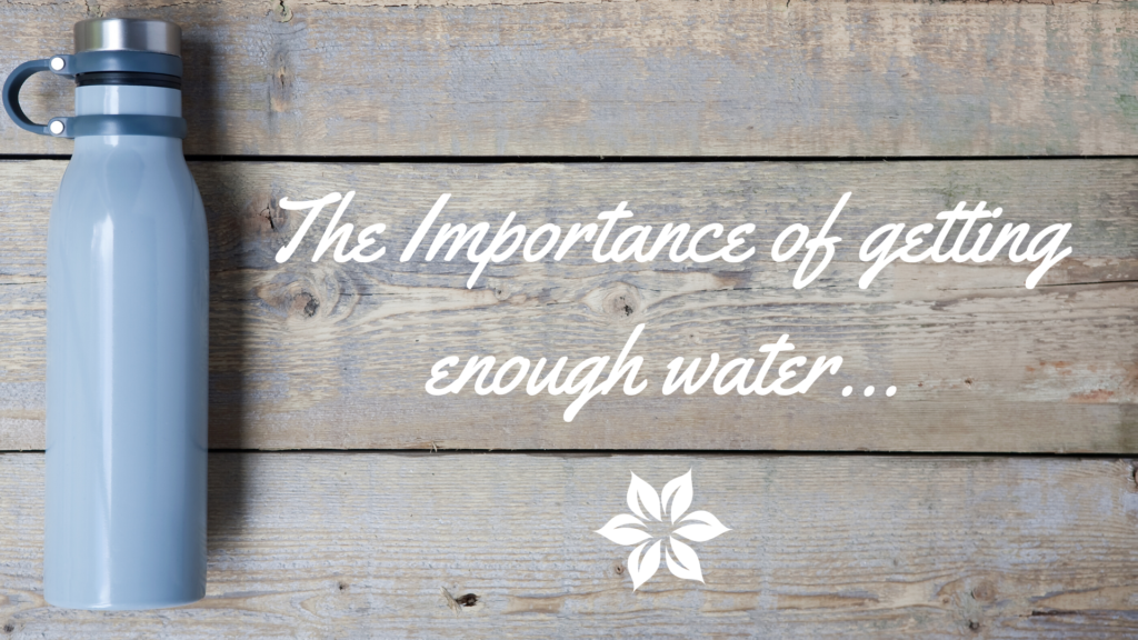 Importance of making sure we drink enough water…